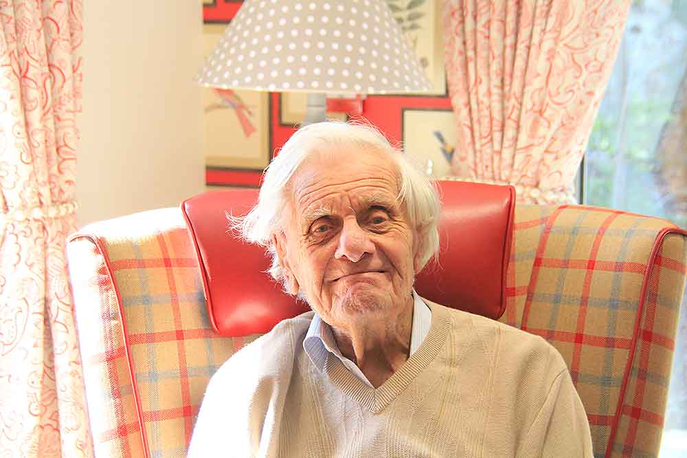 Blatchington Manor residential home, Seaford, East Sussex, resident