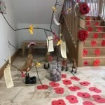 Poppy display, Blatchington Manor, Residential home, Seaford, East Sussex