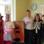 Staff enjoying activities at White Lodge residential home, West Sussex