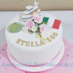100th birthday cake, Abundant Grace, Seaford, East Sussex